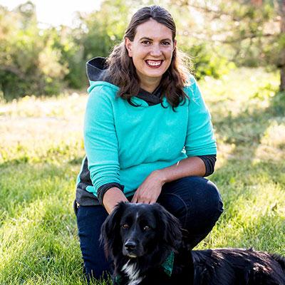 Jenna Reishus, Kennel Technician with dog